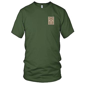 US Army - Army 2nd Battalion 20th SFG Helmet Desert Embroidered Patch - Mens T Shirt