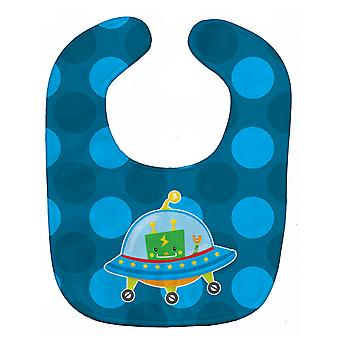 Carolines Treasures  BB9081BIB Robot Spaceship Baby Bib