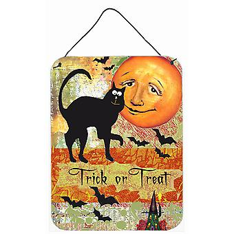 Trick or Treat Moon Halloween Wall or Door Hanging Prints