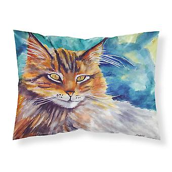 Maine Coon Cat Watching you Fabric Standard Pillowcase
