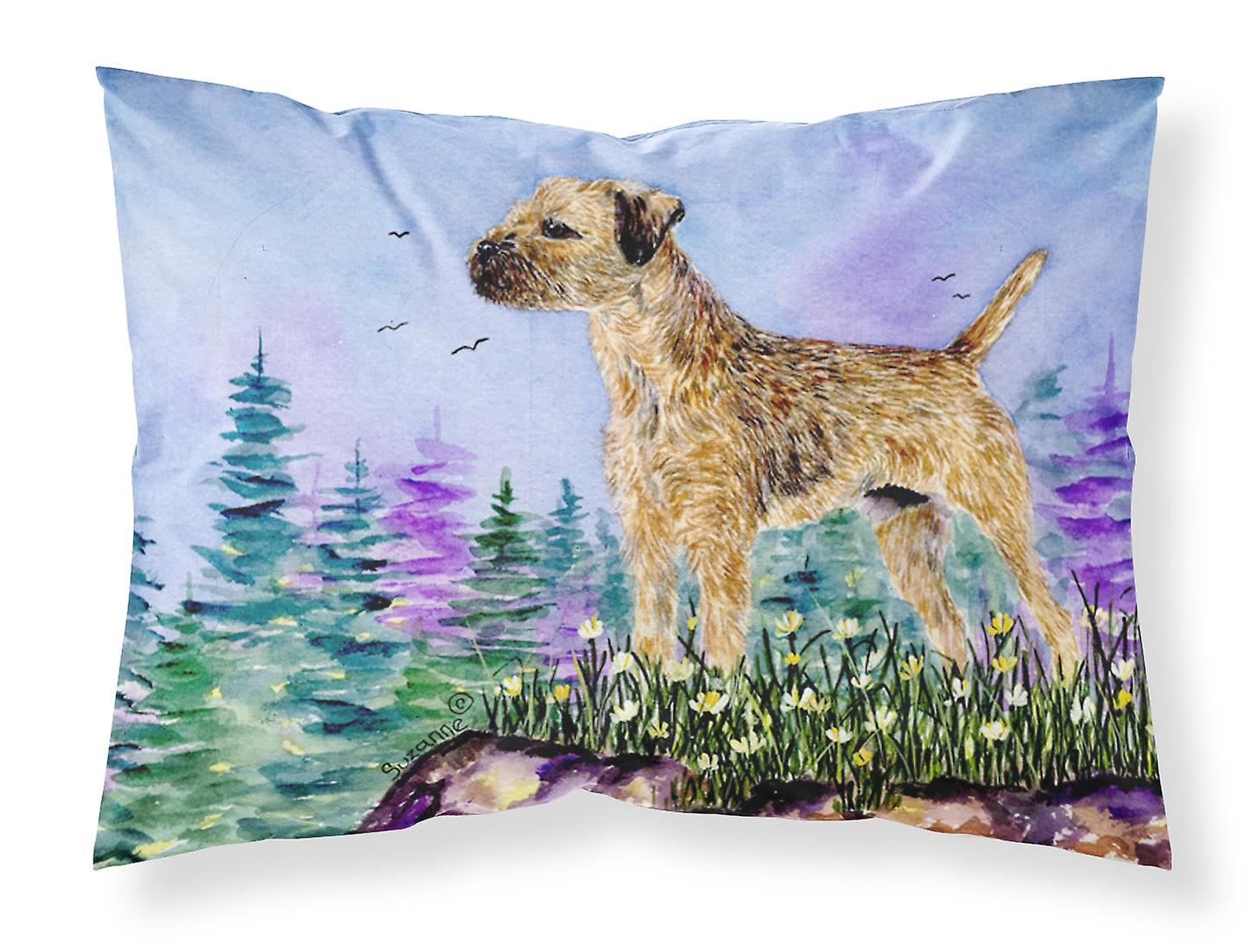 Carolines Wicking Sta Ss8664pillowcase Terrier Border Trésors Humidité Tissu 9IEDYW2H