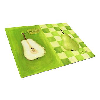 Carolines Treasures  WHW0121LCB Pear by Ute Nuhn Glass Cutting Board Large