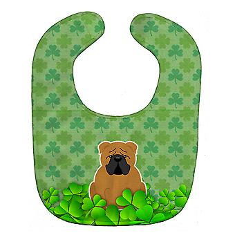 Carolines Treasures  BB6263BIB English Bulldog Red Shamrocks Baby Bib