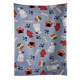 Dog House Collection White Boxer Cooper Kitchen Towel