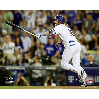 Justin Turner 3 Uruchom Home Run gra 1 2017 National League Division serii Photo Print