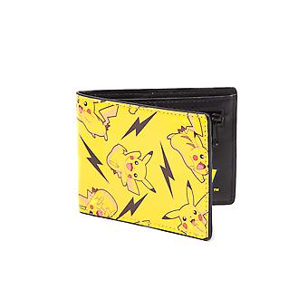 Pokemon Wallet Pikachu All Over Print new Official Bifold Yellow