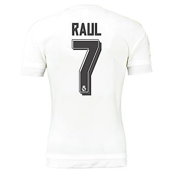 2015-16 real Madrid hem skjorta (Raul 7) - barn