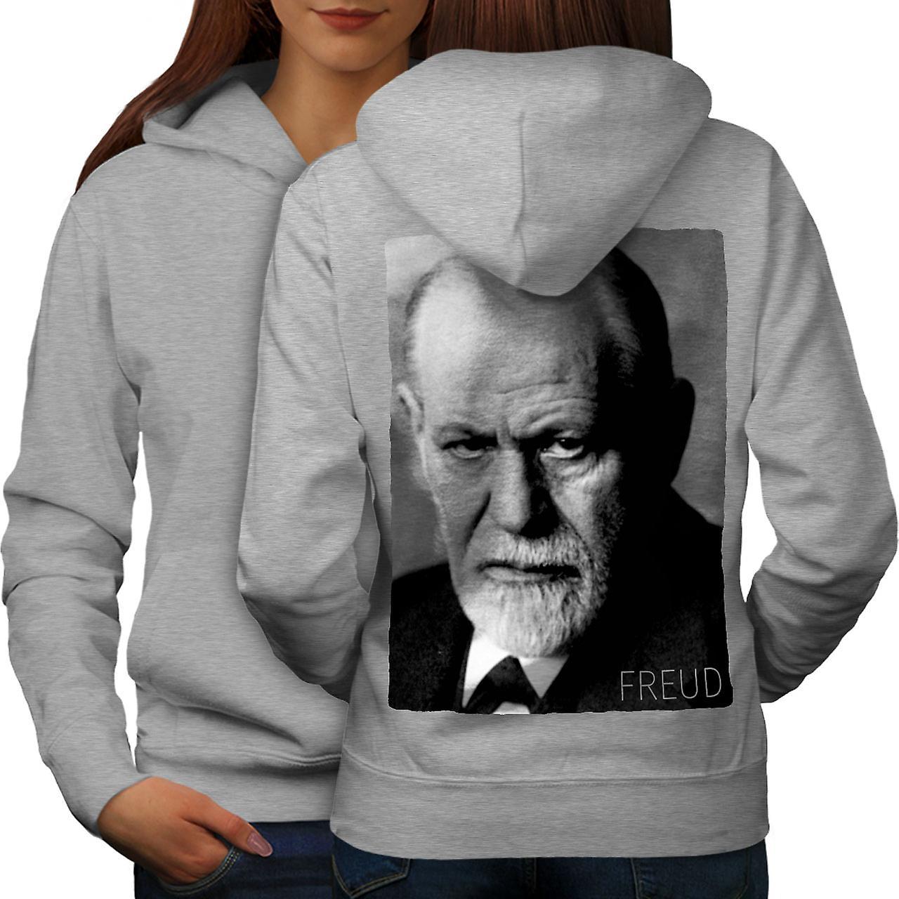 Sigmund Freud Art femmes grisHoodie dos