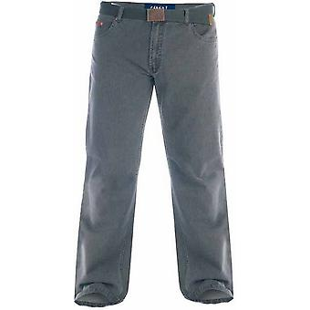 Duke London Mens Canary Bedford Cord Trousers With Belt