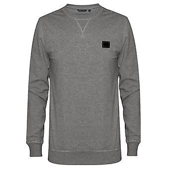 Antony Morato Antony Morato grå Plaque Logo Crew Neck trøje