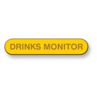 Drinks Monitor Enamel Bar Badge, Old School Vintage Style!