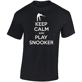 Keep Calm And Play Snooker Kids Unisex T-Shirt 8 Colours (XS-XL) by swagwear
