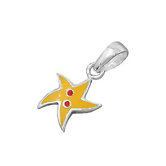 Yellow star silver 925 pendant