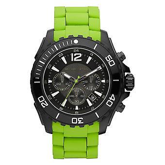 Michael Kors Mens Watch Green Rubber Strap Sports MK8235