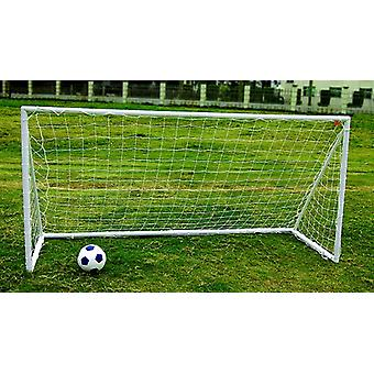 Charles Bentley Kids Junior 8Ft X4Ft Plastic Portable White Football Goal Inc Net- Available as a Single Goal Or Pair Of Goals