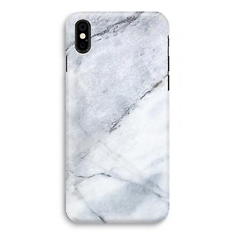 iPhone X Full Print Case - Marble white