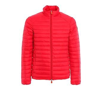 Save the duck men's D3243MGIGA600024 red nylon Quilted Jacket