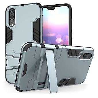 Huawei P20 Armour Kickstand - staal blauw