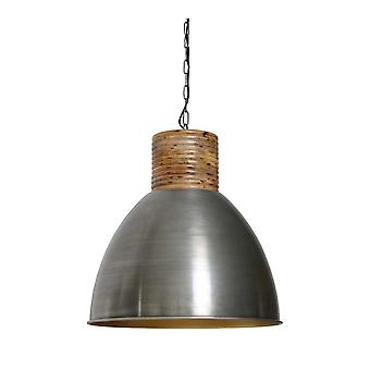 Light & Living Hanging Pendant Lamp D57x57cm Keila Vintage Tin Gold With Wooden To
