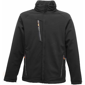 Regatta Mens Apex Waterproof Breathable Softshell Jacket TRA670 Black