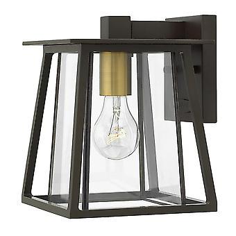 Hinkley Lighting Walker Small Outdoor Wall Lantern In Buckeye Bronze