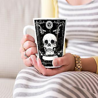 Guns skelet dood schedel nieuwe witte thee koffie keramische Latte Mok 17 oz | Wellcoda