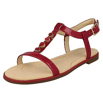 Mesdames Clarks Casual Slingback Sandals Bay Blossom - Fuchsia cuir verni - UK taille 5D - UE taille 38 - US taille 7,5 M