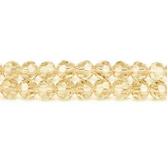 Strand 100+ Champagne Czech Crystal Glass 4mm Faceted Round Beads GC3549-1