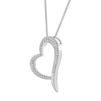 Orphelia Silver 925 ketting met hanger hart zirkonium ZH-6052