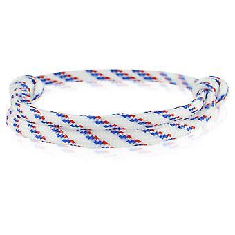 Skipper Armband Surferband Knoten maritimes Armband Nylon Weiß/Blau/Rot 6917