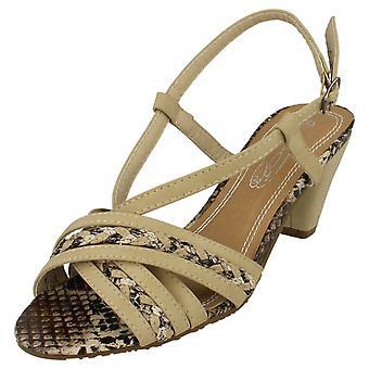 Womens flekk på høyhælte Strappy Sandal F10018