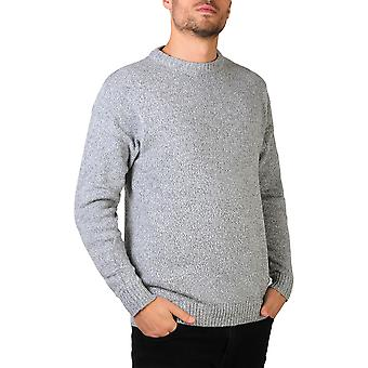 KRISP  Mens Soft Wool Knitted Round Crew Neck Warm Jumper Sweater Grandad Pullover Top