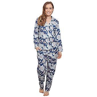 Zoe Navy Azul Floral pijama Pijama Top Cyberjammies 3838 mujer