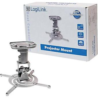 LogiLink BP0001 Projector ceiling mount Tiltable, Rotatable Max. distance to floor/ceiling: 22 cm Silver
