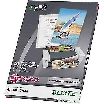 Laminate sheet Leitz A3 125 micron glossy