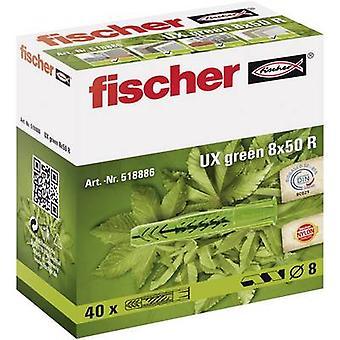 Fischer UX verde 8 x 50 R Universal espiga 50 mm 8 mm 518886 40 PC