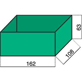 Alutec Assortment case insert (L x W x H) 162 x 108 x 63 mm No. of compartments: 1