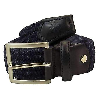 40 Colori Elasticated Melange Belt - Night Blue