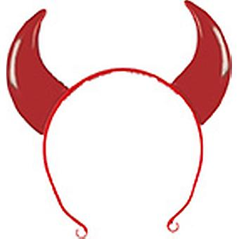 Devil hoorns kind rode hoofdband accessoire carnaval Halloween