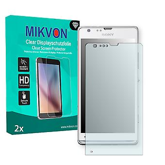 Sony Xperia M35h Screen Protector - Mikvon Clear (Retail Package with accessories)
