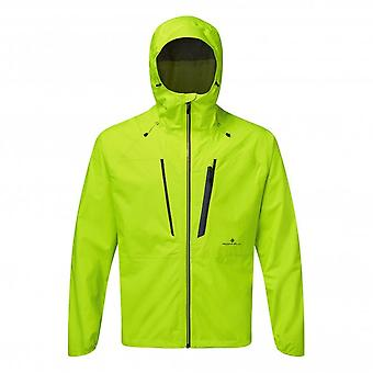 Infinity Fortify Mens FULLY WATERPROOF & BREATHABLE Running Jacket Fluo Yellow