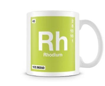 Élément Mug ScientifiqueMettant 045 Vedette Symbole RhRhodium Imprimé En OPikuXZ