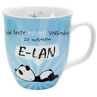 Panda Cup E-LAN wit, afgedrukt, gemaakt van porselein, capaciteit ca. 400 ml...