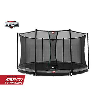 BERG InGround Champion 330 11 ft Trampoline + Safety Net Comfort Grey