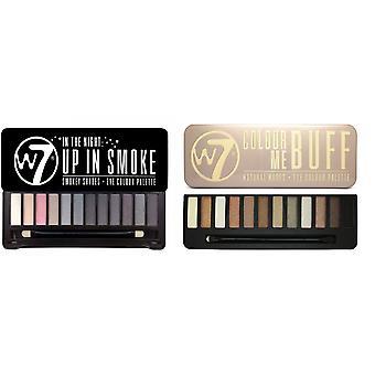 W7 In the Buff + Up in Smoke - Lidschatten Palette
