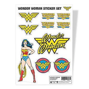 Wonder Woman Sticker Sheet Classic Logo new Official Dc Comics A4 set