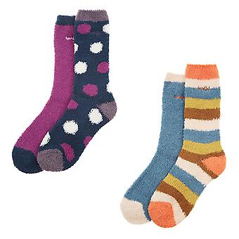Weird Fish Ladies Park 2 Pack Fluffy Sock