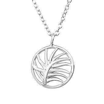 Leaf - 925 Sterling Silver Plain Necklaces - W37902X