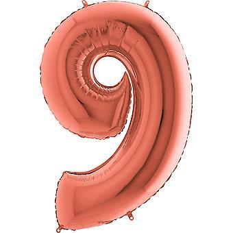 Aantal ballonnen rose goud metallic 36 cm