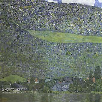 Unterach on Lake Atter, Gustav Klimt, 50x50cm